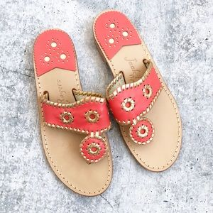 New Jack Rogers Coral Nantucket Sandals